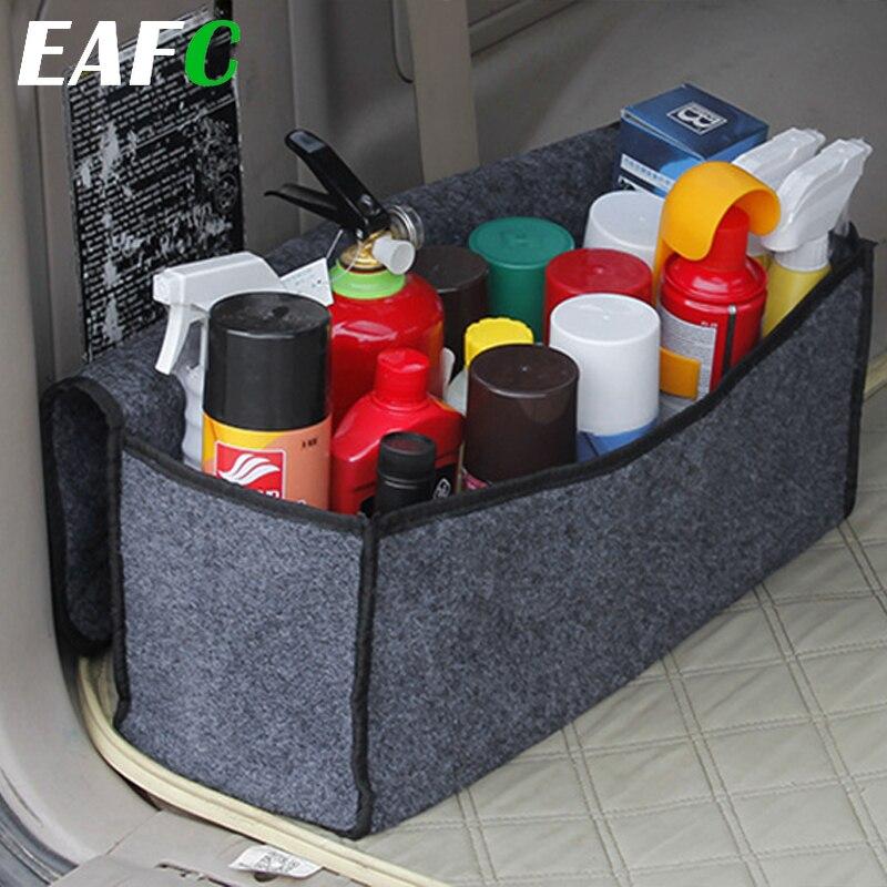 Araba yumuşak keçe saklama kutusu bagaj çantası araç alet kutusu çok kullanımlı araçları organizatör çantası halı katlama acil durum kutusu