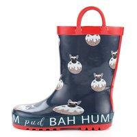 Kushyshoo crianças botas de chuva à prova dwaterproof água de borracha cães com alças criança rainboots para meninos sapatos de chuva do bebê botas de chuva sapatos de água