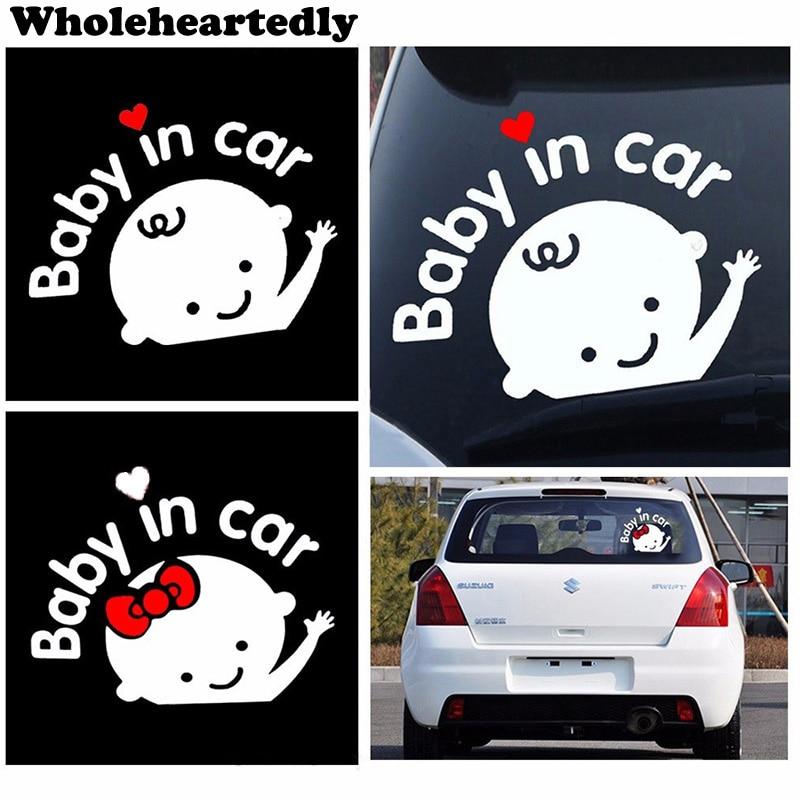 Venda quente estilo do carro 3d dos desenhos animados adesivos de bebê em aquecimento do carro-etiqueta do bebê a bordo acessórios do carro de alta qualidade