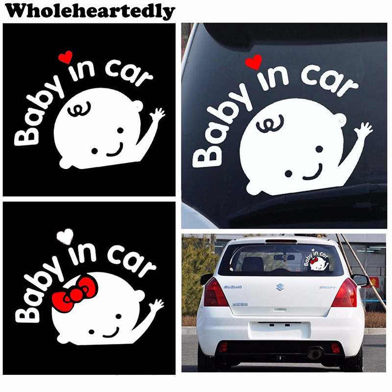 Hot Sale Car Styling 3D Cartoon Stickers Baby In Car Warning Car Sticker And Decals Baby On Board Car Accessories Sticker Vinyl