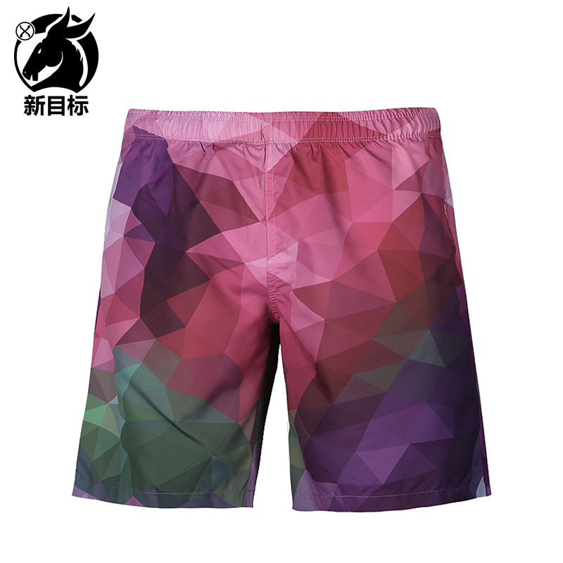 AliExpress Hot Selling 2019 Summer New Style MEN'S Swimming Trunks Color Plaid 3D Printed Beach Shorts Casual Shorts
