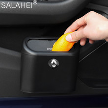 Car Hanging Trash Can ABS Square Pressing Type For Renault Megane 2 Scenic Laguna Megane 3 Auto Seat Belt Cover Captur Fluence