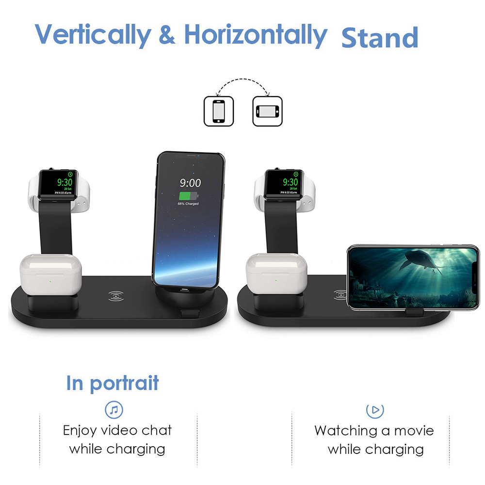 4 in 1 Wireless Charging with Fast Charger Stand
