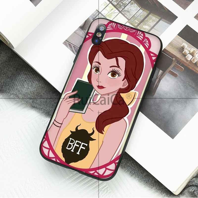 Ruicaica Prinzessin Schnee Weiß Ariel Jasmin Belle Mulan Moana Kunden Telefon Fall für iPhone 5 5Sx 6 7 7plus 8 8Plus X XS MAX XR