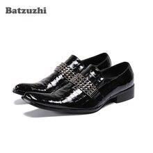 Batzuzhi Fashion Formal Shoes Men Pointed Toe Genuine Leather Dress Shoes Men Oxfords Black Business Shoes Male Zapatos Hombre
