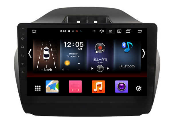 OTOJETA Android 9.0 2.5D ekran radio samochodowe dla Hyundai TUCSON IX35 AUX USB multimedialne stereo nawigacja GPS magnetofon