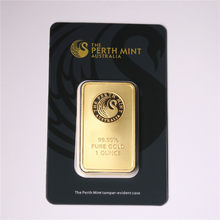 1 oz série de barras de ouro a perth mint bullion barra perth hortelã barra de ouro chapeado réplica