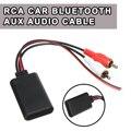 Универсальный автомобильный bluetooth беспроводной адаптер с 2 RCA AUX в музыкальном аудио вход беспроводной кабель для грузовика авто