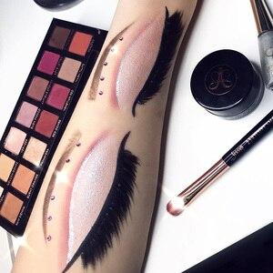Image 5 - Jessup gül altın/siyah fırça makyaj fırçası göz farı makyaj fırçalar göz astar Shader doğal sentetik saç