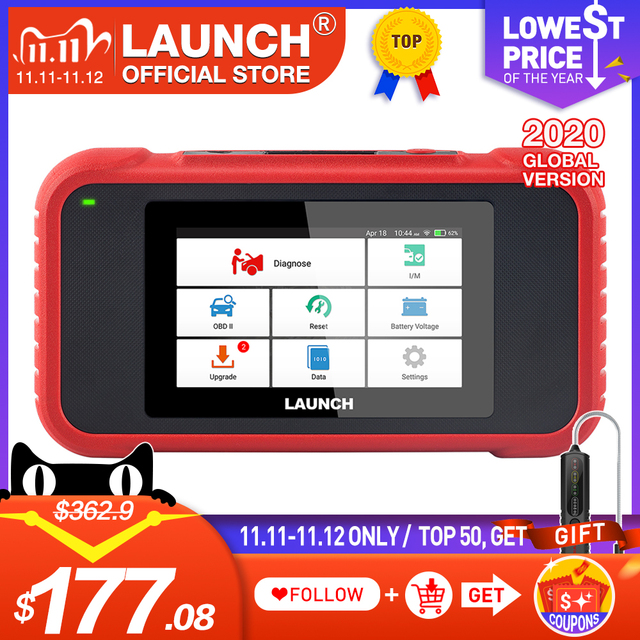 LAUNCH OBD2 Scanner CRP129E Car Diagnostic Tool for Eng ABS SRS TCM Code Reader Oil/EPB/TPMS/SAS/Throttle Reset Free Update