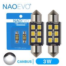 NAOEVO C5W LED 28mm 31mm C10W CANBUS coche luz Interior libre de Error 36mm Festoon 39mm 41mm 44mm para E39 E60 F30 F10 X5 E70 F31