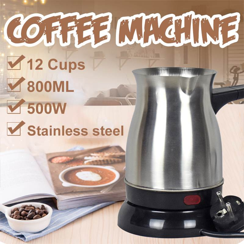 800ml 800W 12 Cups Mini Electric Heaters Stove Hot Cooker Plate Milk Water Coffee Tea Heating Furnace Multi Kitchen Appliance|Coffee Makers| |  - title=