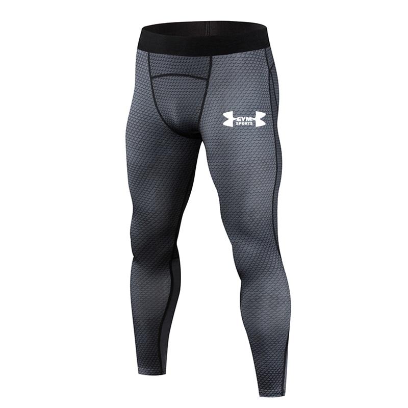 2019 Hot New Compression Pants Jogger Men Training Fitness Sports Leggings Gym Jogging Long Pant Male Sportswear Yoga Bottoms 1