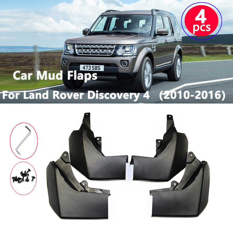 Set of 4 Mud Flaps Splash Guards for Land/ Rover Discovery 2014-2016 LR4 2010-2016 Front and Rear