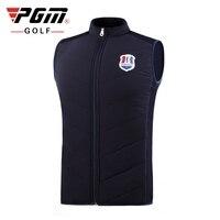 PGM Men Sleeveless Golf Jacket Thickening Down Vest Coat Outdoor Full Zipper Keep Warm Golf Coat Jacket M XXL D0833