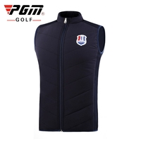 PGM Men Sleeveless Golf Jacket Thickening Down Vest Coat Outdoor Full Zipper Keep Warm Golf Coat Jacket M XXL D0833