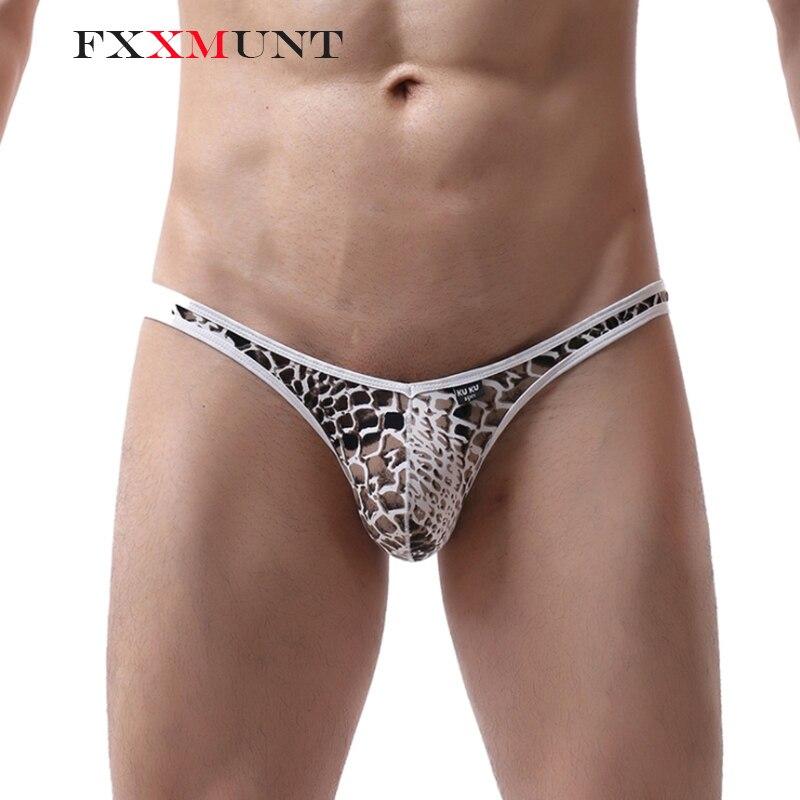 FXXMUNT Sexy G-string Thong Gay Underwear Men String Gay Jockstraps Thong Low Waist Gay Panties Male Thong Underwear