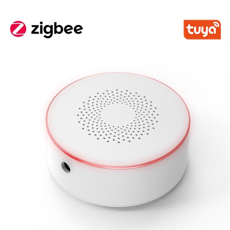 Tuya Smart ZIgbee Siren Wireless Audible And Visible Alarm 100dB Anti-tamper AC Power