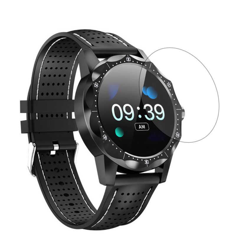 スマートウォッチ強化ガラス保護フィルムクリアガードサムスンギャラクシー COLMI スカイ 1 スマート腕時計強化液晶表示画面プロテクターカバー