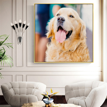 Huacan DIY Daimond Painting 5d Dog Full Square Round Drill Diamond Embroidery Cross Stitch Animal