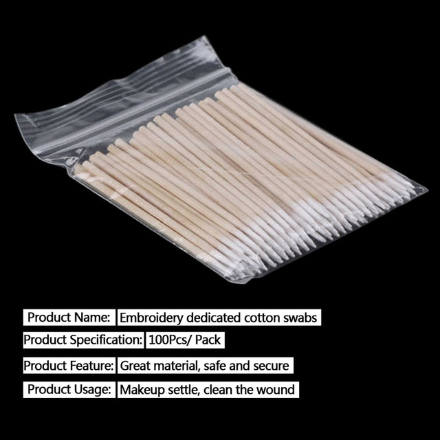 5000pcs Cotton Swab Wood Disposable Tattoo Microblading Permanent Makeup Tools for Cosmetic Beauty Soft Swab Stick Buds Tip 3