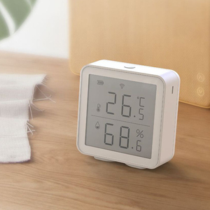 Image 5 - Sensor inteligente de temperatura y humedad con WiFi, dispositivo con pantalla LCD, funciona con el asistente de Google Alexa, Control de enlace con Tuya