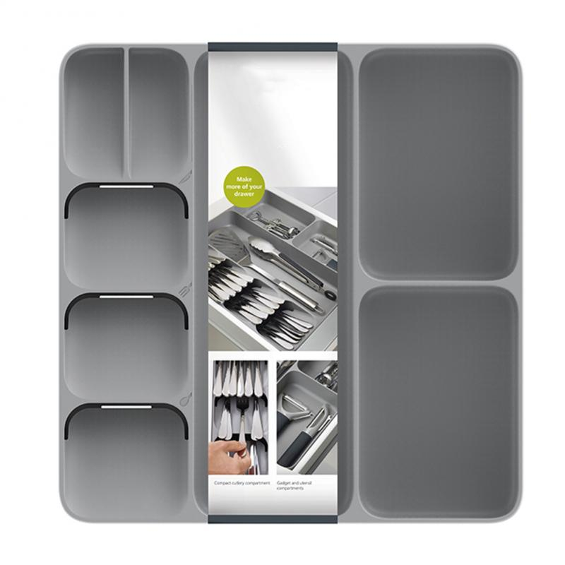 Practical Tray Insert Cutlery Spoon kitchen Divider Organizer Drawer Organization Compact Storage Box kitchen tool organizers