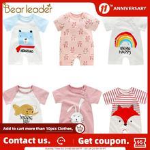 Dress Baby Pajama Outfits Romper Body-Suit Animal Newborn Girls Cotton Summer Bear Leader