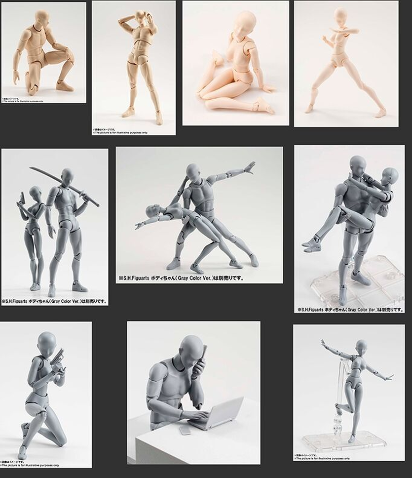 แม่แบบเขา SHE เฟอร์ไรต์ FIGMA Movable Body SHF FIGMA Feminino Kun Body Chan PVC Action รูปตุ๊กตาเด็กของขวัญ