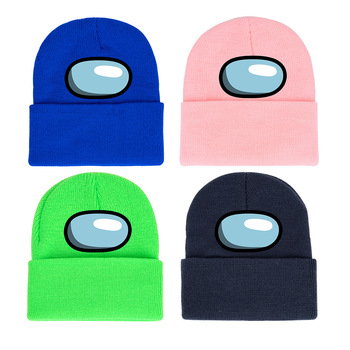 40 style Among Us Game toy Printing Harajuku Hats Women Autumn Warm Street Men Winter Hat Cotoon Fashion Ski Caps For Boys 2
