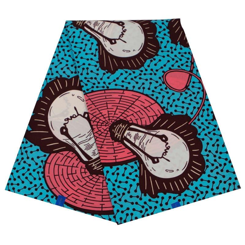 African Red Ankara Cotton Fabric High 2019 New Prints Fabric Dutch Wax Dutch Wax 6 Yards/lot