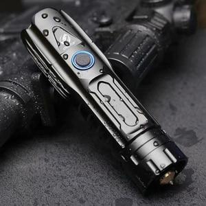 Image 5 - S228 مصباح ليد جيب مع P90 خرزة مصباح عالية الطاقة 6200LM التكتيكية مقاوم للماء الشعلة شريحة ذكية التحكم مع أسفل هجوم مخروط
