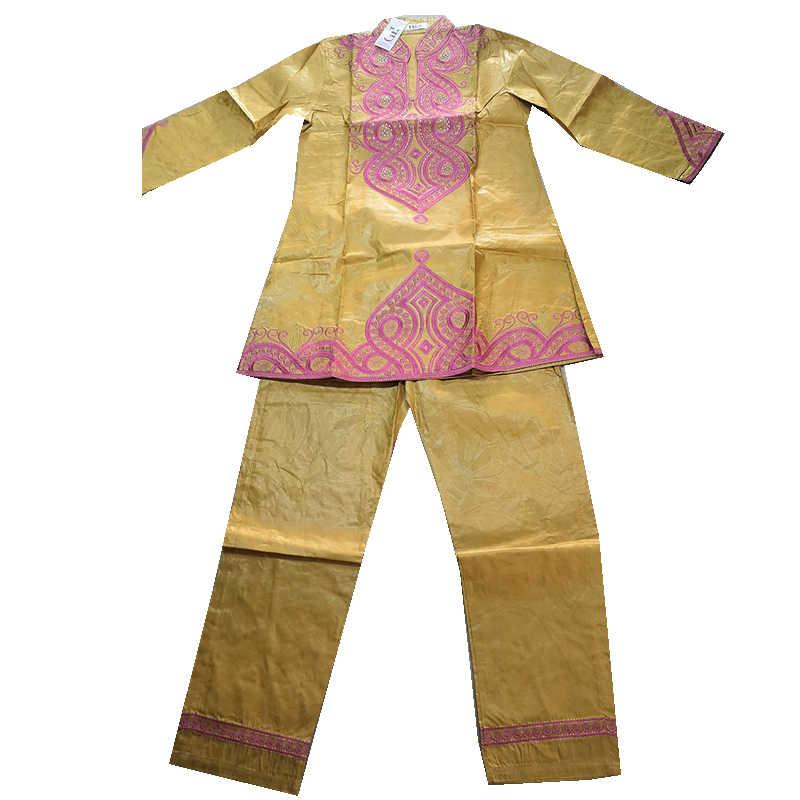 MD afrikanische kleidung für frauen stickerei bazin riche hemd hose set langarm tops damen traditionellen plus größe dashiki kleid