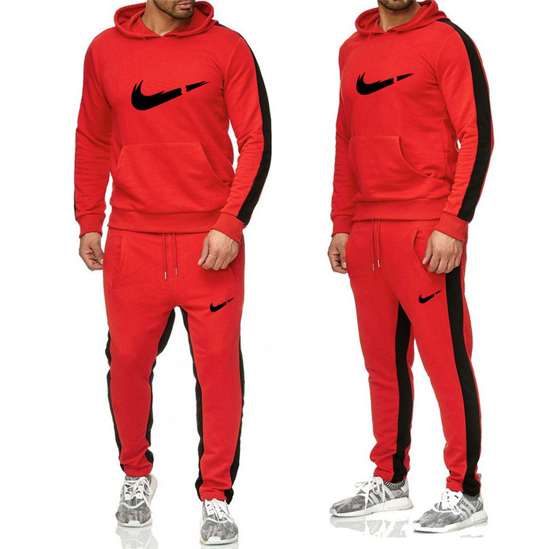 High Quality Men's Hooded Sports And Leisure Suit Fitness Running Sports Suit