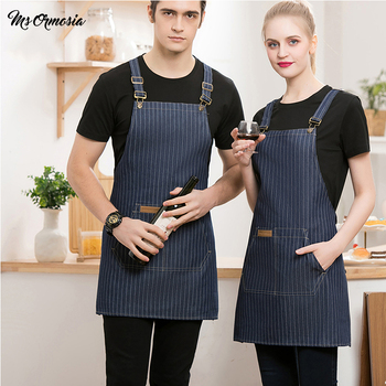 New Cooking Kitchen Apron For Woman Men Chef BBQ Hairdresser Aprons Waiter Cafe Shop Custom Wholesale Catering service aprons