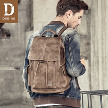 DIDE Anti theft Backpack Men Laptop Backpacks For Teenager women Male Preppy Style School Bag Cover Travel Backpack Leather недорого