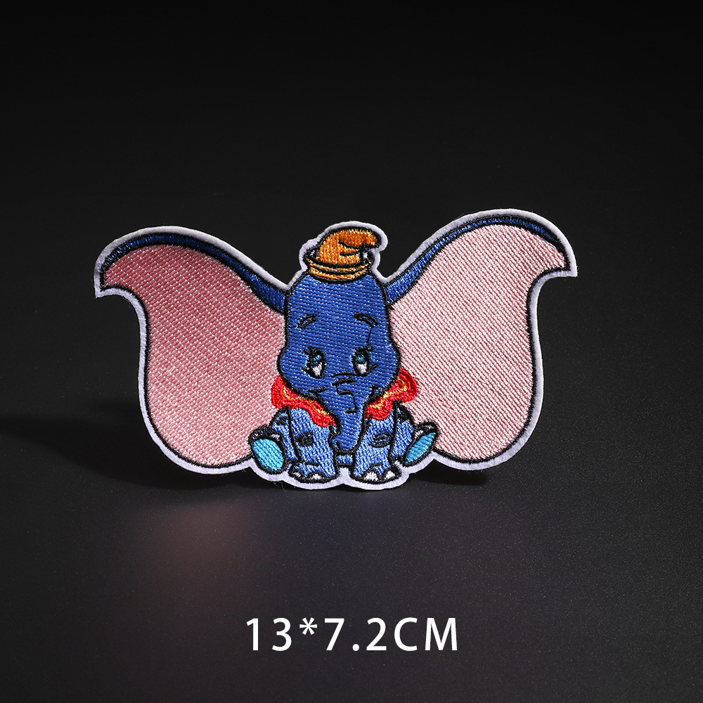 Мультфильм Dumbo нашивки со слонами клеящиеся утюгом украшения Мой сосед Тоторо ткань аппликации 3D Diy милое крыло свободы не лицо значки - Цвет: N3-BT5425