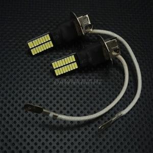 Image 2 - 2PCS H1 H3หลอดไฟLed 4014 36SMD 6000Kสีขาวรถหมอกไฟขับรถวิ่งโคมไฟ12V H1 h3 Ledเปลี่ยนหลอดไฟ