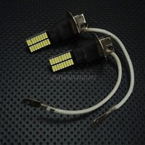 Image 2 - 2PCS H1 H3 Led נורות 4014 36SMD 6000K לבן רכב ערפל אורות נהיגה ריצה מנורת 12V H1 h3 Led החלפת נורות
