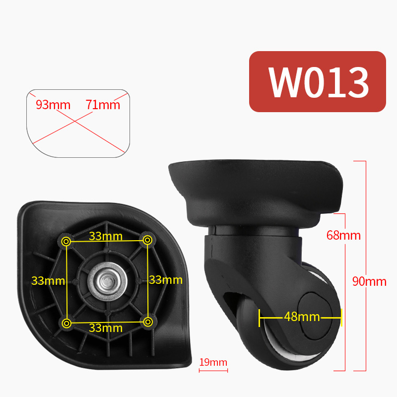 Suitcase Replacement Wheels Luggage Suitcase Casters  Rolling Luggage Bag Accessories  Casters Colored Mute  Pull Rod Box Wheel