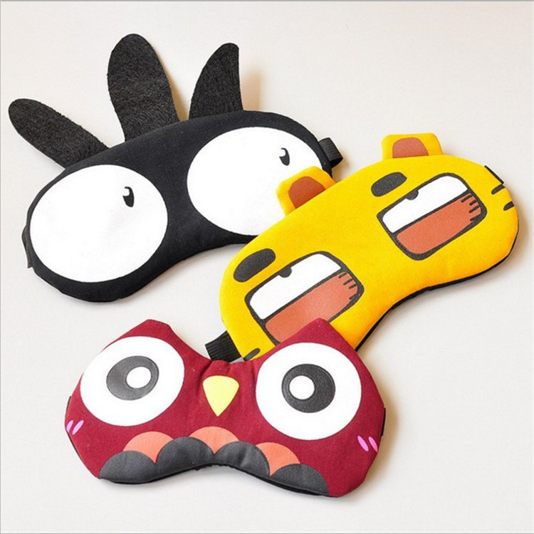 edition three-dimensional cartoon cotton shading sleep patch of ice compress eye protection Cute Rest Mask Eye Band