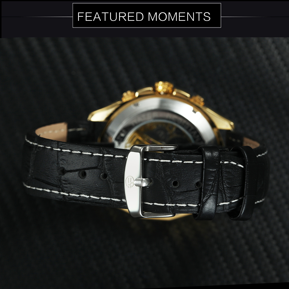 He60ab7460a8040abaa2b08a43369a467U FORSINING Golden Top Brand Luxury Auto Mechanical Watch Men Stainless Steel Strap Skeleton Dial Fashion Business Wristwatches