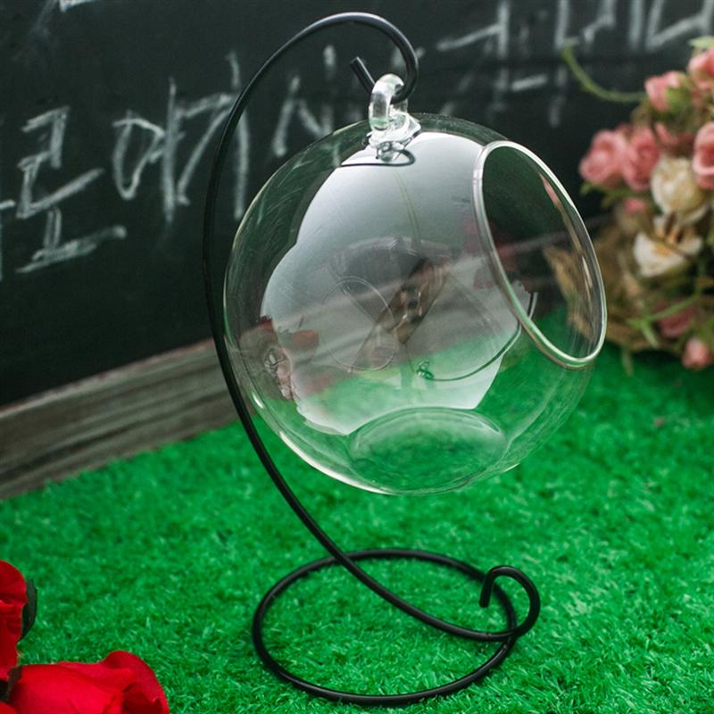 Spiral Ornament Display Stand Iron Hanging Stand Rack Holder For Hanging Glass Globe Air Plant Terrarium Christmas Ornament