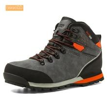 Мужские осенне-зимние водонепроницаемые походные сапоги из коровьей замши, альпинистские уличные кроссовки, амортизационные походные ботинки для мужчин