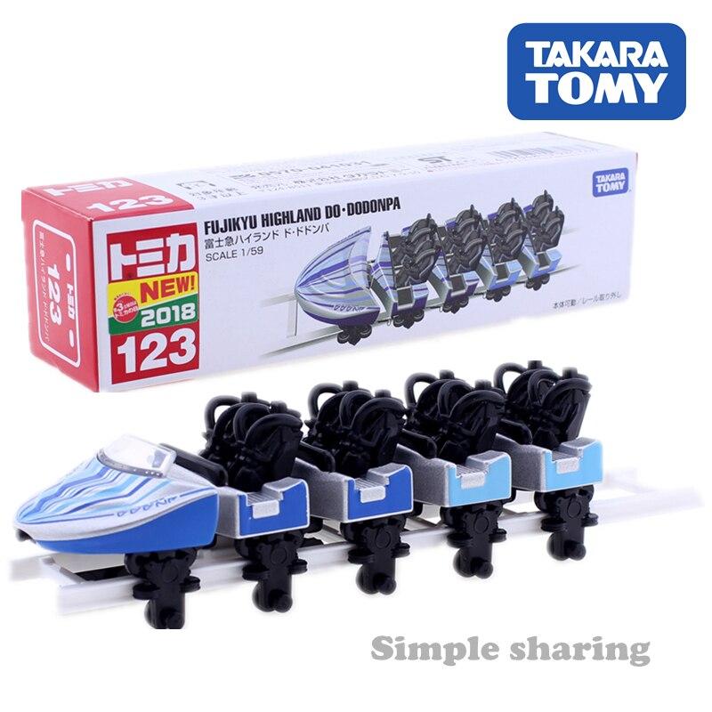 Takara Tomy – voiture jouet en métal moulé sous pression, Collection de modèles de véhicules, Fuji-Q Highland Do Over Dodonpa, montagnes russes, 123, 1/59