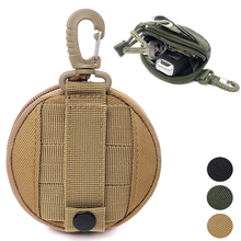 Tactical EDC Pouch Military Key Earphone Holder Men Coin Wallet Purses Army Coin Pocket with Hook Waist Belt Bag for Hunting