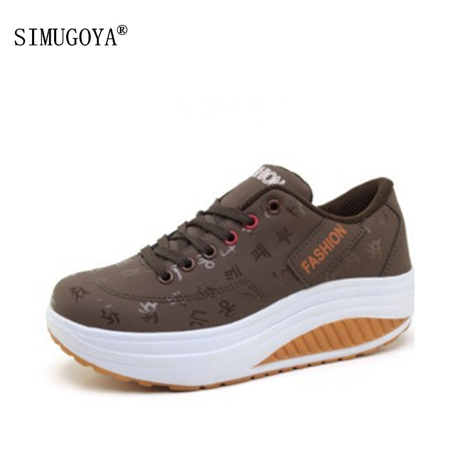 SIMUGOYA Brand Women's Shoes Fashion Ladies Casual Shoes High Quality Women's Rocking Shoes Spring Autumn Big Size Shoes 35-42