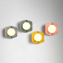 Modern Creative Wall Lamps Industrial Decor Sconce Lamp  Bathroom Aisle Loft Wandlamp Colour Iron Light Fixture