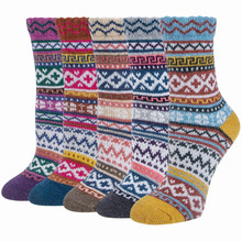 RMSWEETYIL Cute Wool Socks For Women Cozy Winter Warm Comfy Soft Thick Thermal Vintage Knit Ladies Christmas Casual Crew Sock