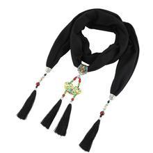 Jzhifiyer hip-hop pendant Jewelry scarf necklace cotton soft scarves women shawl bead jewellery beach bandana